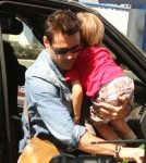 Colin Farrell departs LAX with his son Henry in Los Angeles, CA, on September 4th, 2012.