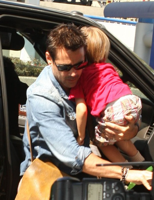 Colin Farrell Takes Flight With Son Henry
