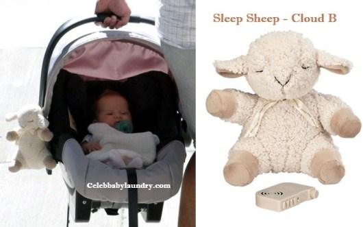 Celeb Baby Style: Haven Garner Warren Sleeps With A Cloud B Sleep Sheep