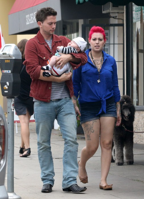 Jackson Rathbone's Afternoon With Son Monroe