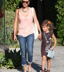 Jessica Alba and her daughter Honor Warren left the Andy LeCompte Salon in Los Angeles, California on August 31, 2012