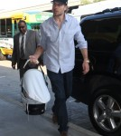 Jessica Simpson, her fiance Eric Johnson and their daughter Maxwell departing on a flight at LAX airport in Los Angeles, California on September 9, 2012.