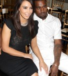 Kim Kardashian & Kanye West attend the Valentino Haute-Couture Show as part of Paris Fashion Week Fall / Winter 2012/13 at Hotel Salomon de Rothschild on July 4, 2012 in Paris, France.