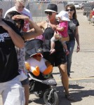 Singer Pink and her hubby Carey Hart go to the Malibu Chili Cook Off with their daughter Willow Sage in Malibu, California on September 2nd, 2012.