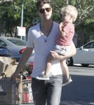 Singer Robin Thicke and his son Julian out grocery shopping at Bristol Farms in West Hollywood, California on August 30, 2012.