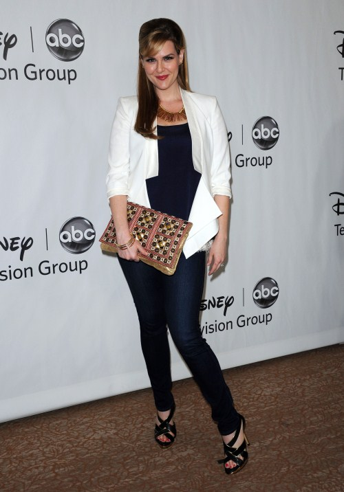 Sara Rue at the 2012 Disney ABC Television TCA summer press tour party at The Beverly Hilton Hotel on July 27, 2012 in Beverly Hills, California.