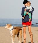 Selma Blair and son Arthur Bleick enjoyed a walk and beach in Santa Monica, CA on September 1st, 2012.