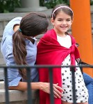 Katie Holmes spent the day with her daughter Suri Cruise at the park in New York City, New York on September 3, 2012