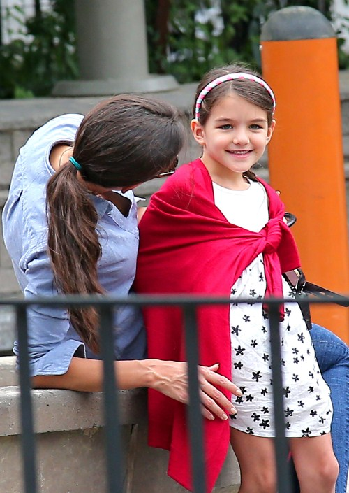 Suri Arrives At Her First Day Of School