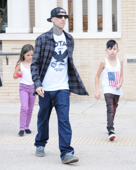 Travis Barker & His Rocking Children