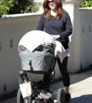 Alyson Hannigan Goes For A Walk With Her Daughters