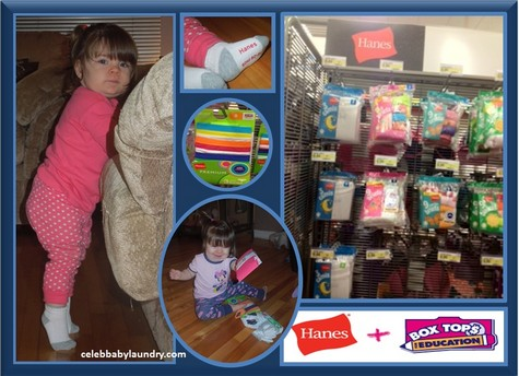 What's Ava Wearing: Hanes Toddler Socks – Safe & Comfortable – Helps Bring Cash to Schools through the Box Top Program