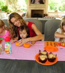 Denise Richards and Her Three Adorable Daughters Enjoy Brunch and Pumpkin Decorating