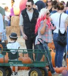 Christina Aguilera Takes Son Max To Mr. Bones Pumpkin Patch