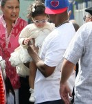 "Nick Cannon, Mariah Carey and their twins Monroe and Moroccan attended ""Family Day"" at the Santa Monica Pier, California on October 6, 2012. The couple took a ride on the roller coaster together and spent time with the twins."