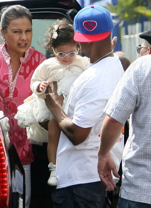 """Nick Cannon, Mariah Carey and their twins Monroe and Moroccan attended """"Family Day"""" at the Santa Monica Pier, California on October 6, 2012. The couple took a ride on the roller coaster together and spent time with the twins."""