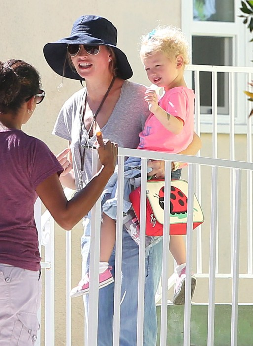 Rebecca Gayheart Picks Billie Up From School