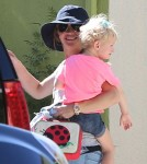 Rebecca Gayheart picks up her daughter Billie Dane from school in Los Angeles, CA on October 15th, 2012.