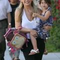 Sarah Michelle Gellar picks up her daughter Charlotte from school in Santa Monica, CA on October 15th, 2012.
