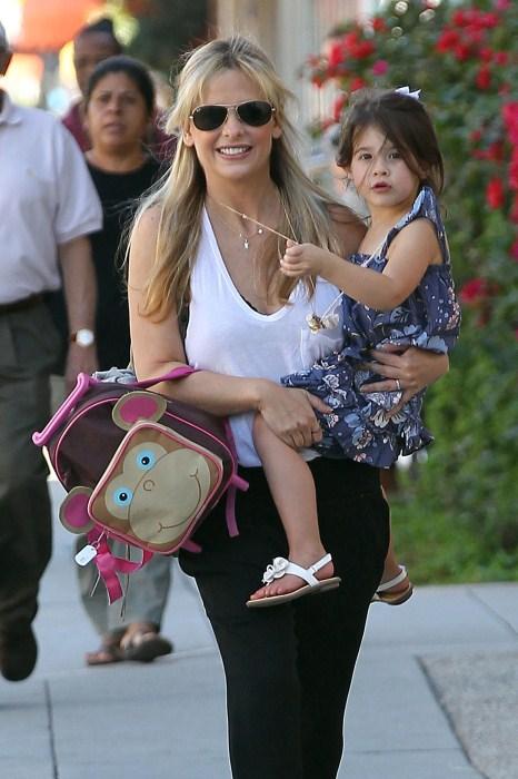 Sarah Michelle Gellar picks up her daughter Charlotte from school in Santa Monica, CA on October 15th, 2012.