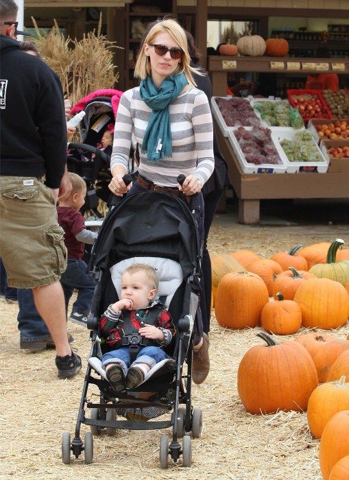 January Jones Enjoys A Day With Her Little Pumpkin