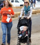 January Jone took her little man Xander the the Harvest Festival Pumpkin Patch in Los Angeles, California on October 20th, 2012.