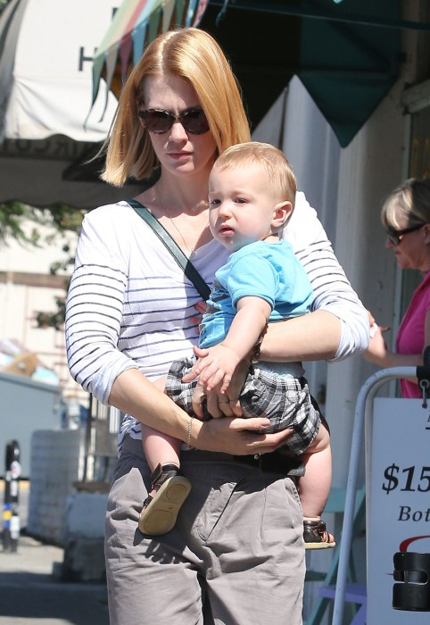 January Jones Picks Up Her Daycare Tot