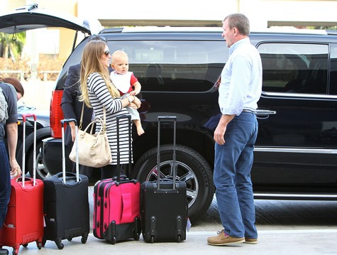 Recently Engaged Jacqui Ainsley and Guy Ritchie At LAX Catching A Flight (Photos)