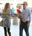 Recently Engaged Jacqui Ainsley and Guy Ritchie At Flight At LAX Catching A Flight (Photos)