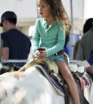 Exclusive... Nahla Aubry Rides a Horse at the Farmers Market