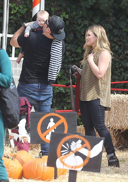 Hilary Duff & Mike Comrie Take Luca For His First Pumpkin Patch Visit