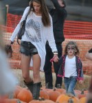 Alessandra Ambrosio Takes Anja To Mr. Bones