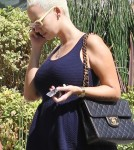 Amber Rose runs some errands in West Hollywood, CA on October 4, 2012.