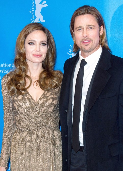 "Angelina Jolie & Brad Pitt at the ""In The Land Of Blood And Honey"" premiere during the 62nd Berlin International Film Festival at the Grand Hyatt on February 11, 2012 in Berlin, Germany"