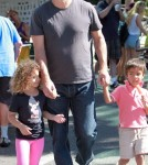 Chris Noth treated his son, Orion Noth, to an ice cream treat in West Hollywood, California on October 14, 2012.