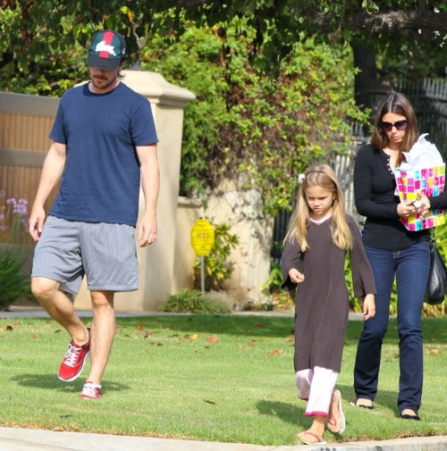 Christian Bale Parties With Daughter Emmaline