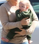 Hilary Duff takes her baby boy Luca to lunch in Beverly Hills, CA on October 10th, 2012.