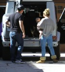 Exclusive... Hilary Duff And Family Visit Her Mom In Toluca Lake