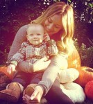 Hilary Duff Tweets Picture Of Luca & Her At The Pumpkin Patch