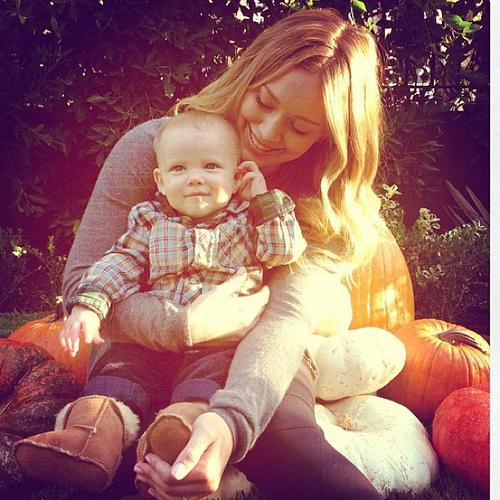 Hilary Duff & Luca: Pumpkin Patch Duo