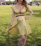 """Holly Madison attends """"Forever Home Family Picnic"""" for people who have provided a home for a shelter dog at Freedom Park in Las Vegas, Nevada on October 13, 2012."""