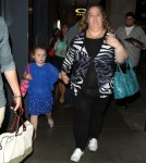 "Here Comes Honey Boo Boo' star Alana Thompson and her mom June Shannon take a walk through the Hollywood & Highland mall after appearing on ""Jimmy Kimmel Live"" on October 15, 2012 in Hollywood, California."