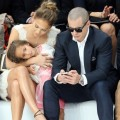 Jennifer Lopez and daughter Emme attend the Chanel Spring/Summer 2013 Fashion Show as part of Paris Fashion Week in Paris, France on October 2, 2012