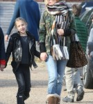 Exclusive... Kate Moss And Daughter Out In Cotswolds