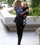 Kimberly Stewart was spotted while out with daughter, Delilah del Toro, in Los Angeles, California on October 5, 2012.