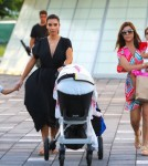 'Keeping Up With The Kardashians' stars Kim Kardashian and Kourtney Kardashian take Kourtney's son Mason and newborn baby Penelope to the Miami Chidren's Museum in Miami, FL on October 3rd, 2012.