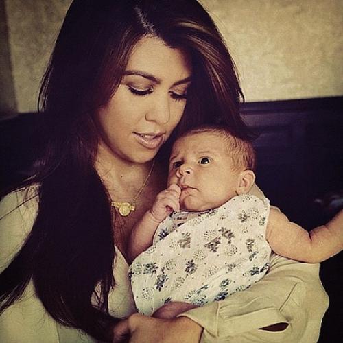 Instagram photo of Kourtney Kardashian and daughter Penelope