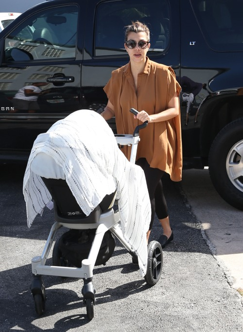 Kourtney Kardashian Takes Penelope To A Photo Shoot