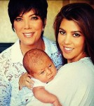 Kourtney and Kris Jenner Pose With Penelope Disick