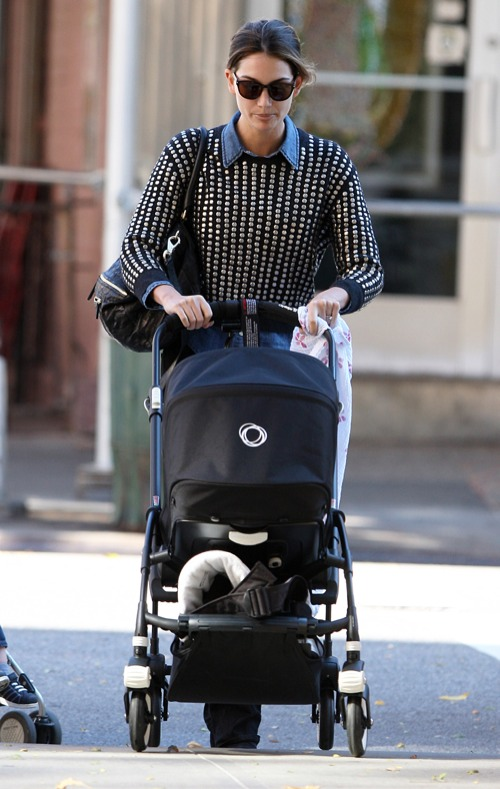 Lily Aldridge Takes A Stroll With Dixie